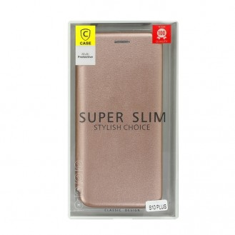 Samsung Galaxy S10 Plus Leder Hülle Etui Rosegold