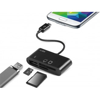 Datenkabel Micro USB mit Standfunktion Türkis