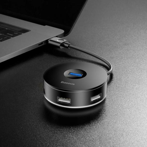 Baseus Micro USB 3.0 HUB Ports Konverter Adapter Für Laptop Phones