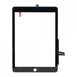 Touch Einheit + Displayglas kompatibel mit Apple iPad 6 2018, Schwarz A1893, A1954