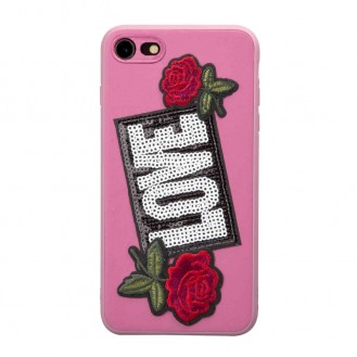 SBS COVER MIT PATCH LOVER FÜR IPHONE 7, 8