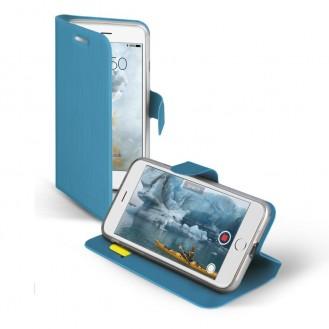 iPhone XS Vili Leder Hülle Etui Blau