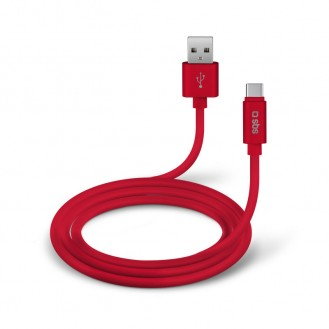 SBS Datenkabel USB 2.0 Typ-C  Rot