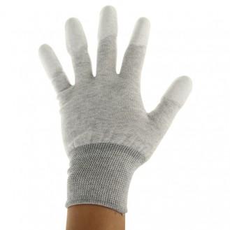 Anti statische Universalgröße PU Fingerhandschuhe (grau)