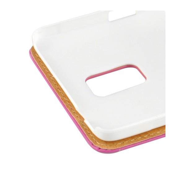 Rosa Pink Flip Leder Etui Tasche Note 4