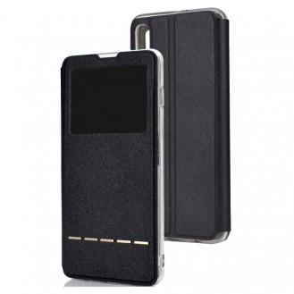 VIEW Case Tasche Etui mit Sichtfenster für Samsung Galaxy A50 Schwarz