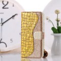 Bling Glitzer Book Wallet ID Case Hülle für Samsung Galaxy S20 Gold