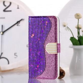 Bling Glitzer Book Wallet ID Case Hülle für Samsung Galaxy S20 Lla