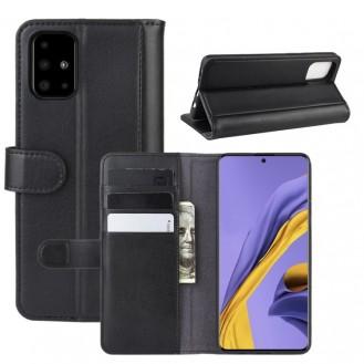 Echt Leder Kreditkarte Etui Wallet Case für Samsung Galaxy A51