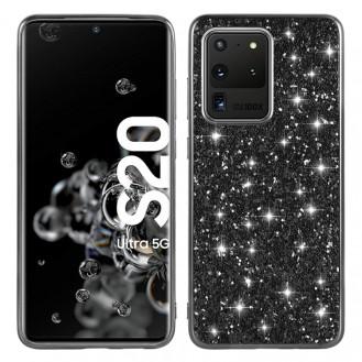 Samsung Galaxy S20 Bling Glitzer Schutzhülle Case Cover Schwarz