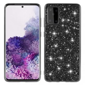 Samsung Galaxy S20 Plus Bling Glitzer Schutzhülle Case Cover Schwarz