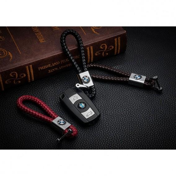 BMW Schlüsselanhänger Leder Rot (Auf Wunsch mit Gravur)