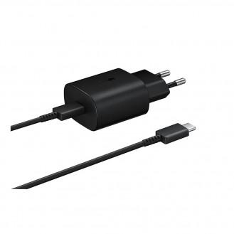 Samsung - (1m) AFC Schnell Ladegerät (3A/25W) + USB C auf USB C Ladekabel (EP-TA800XWEGWW) - schwarz