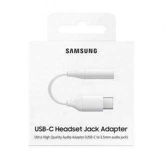 Samsung Adapter - EE-UC10 - USB Typ-C zu 3,5mm Klinke - Weiss Original Audio Kopfhörer