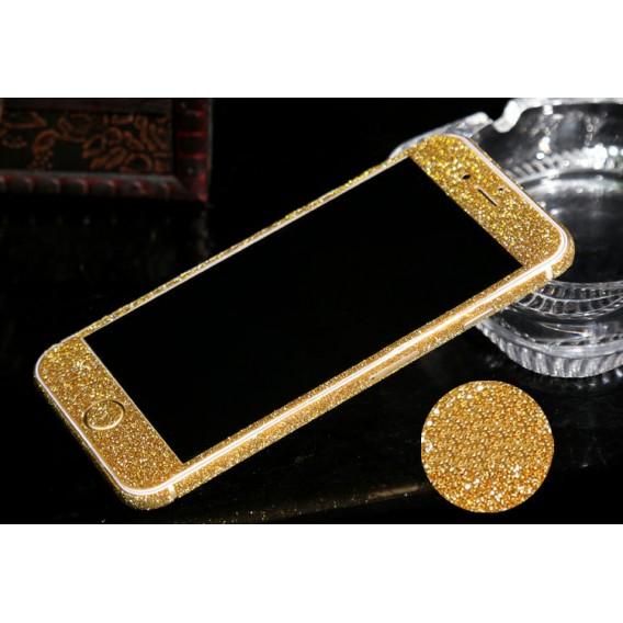 iphone 6 6S PlusGold Bling Aufkleber Schutz-Folie Sticker Skin
