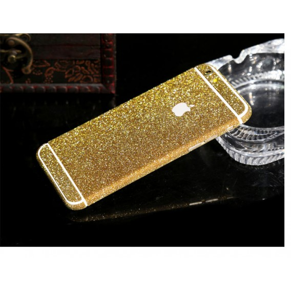 iphone 6 6S Gold Bling Aufkleber Schutz-Folie Sticker Skin