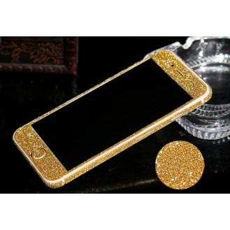 iphone 6 6S Gold Bling Aufkleber Schutz-Folie Sticker Skin
