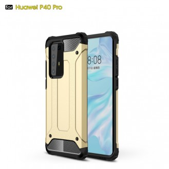Huawei P40 Pro Double Layer Shockproof Impact Armour Hard Case in Gold