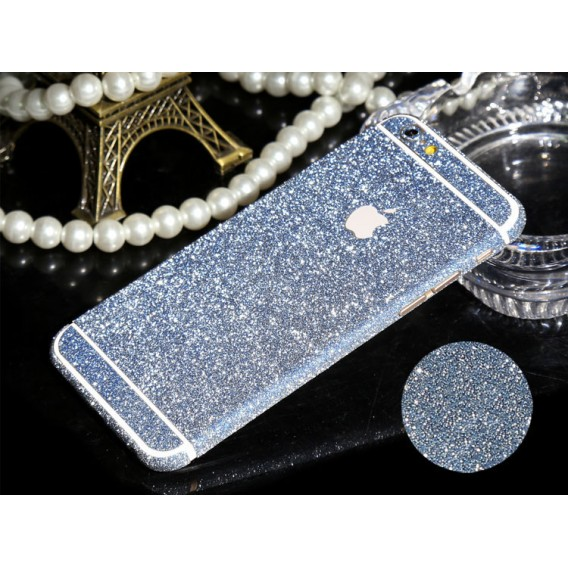 iphone 6 6S Türkis Bling Aufkleber Schutz-Folie Sticker Skin