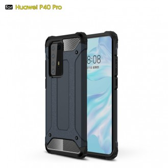 Huawei P40 Pro Double Layer Shockproof Impact Armour Hard Case in Blau