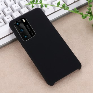 Huawei P40 Pro Liquid Schutzhülle Silikon Tasche Schutz Case Schwarz