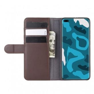 Echt Leder Kreditkarte Etui Wallet Case für Huawei P40 Pro Braun