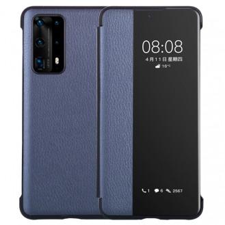 Smart Sleep / Wake Up PU Leder Flip Hülle Ultra Slim Schutzhülle für Huawei P40 Pro Blau