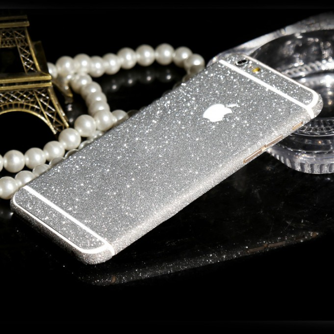iphone 6 6s Plus Silber Bling Aufkleber Schutz-Folie Sticker Skin