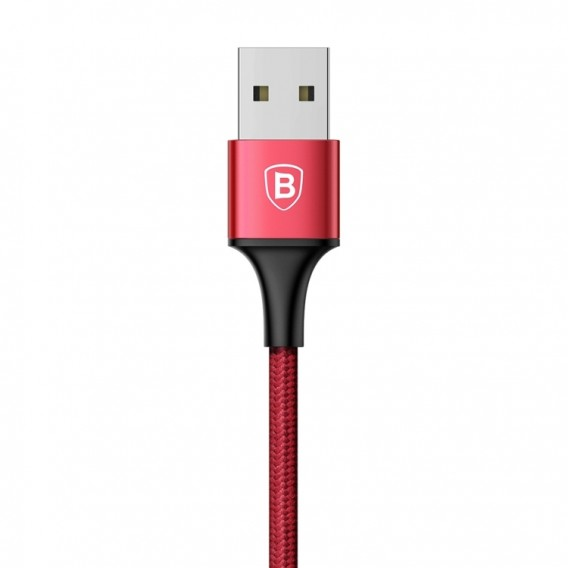 Baseus Schnell Serie 3in1 Lightning + MicroUSB + Typ-C 120CM Kabel Rot