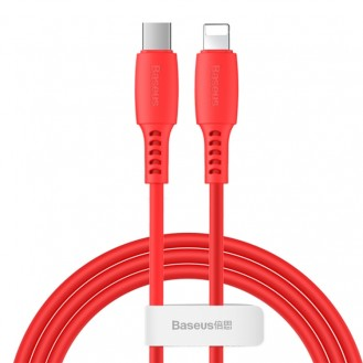 Baseus USB C to Lightning Schnell Kable Type C 18W  120CM Ladekabel Data für iPhone Rot