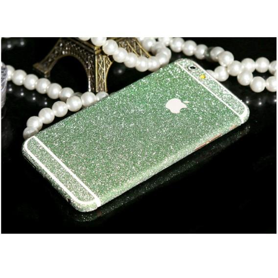 iphone 6 6S Grün Bling Aufkleber Schutz-Folie Sticker Skin