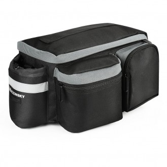 Fahrradtasche Gepäcktasche Gepäckträger Tasche mit Schulterriemen 6L schwarz