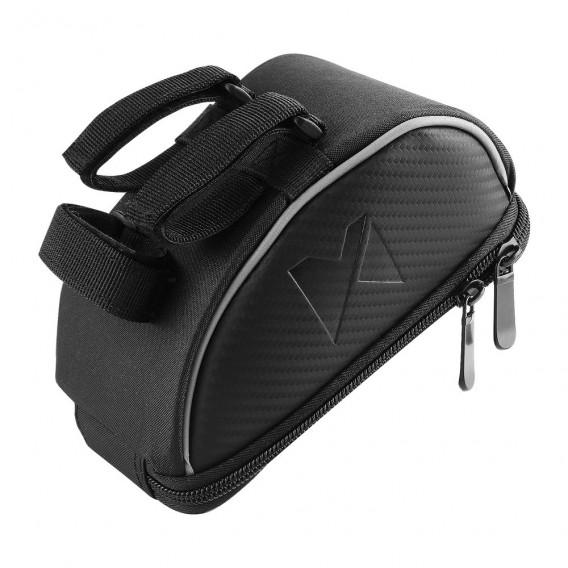 Fahrradtasche, Rahmentasche,Handyhalterung für Smartphones max 6,5 Zoll 0,9L schwarz