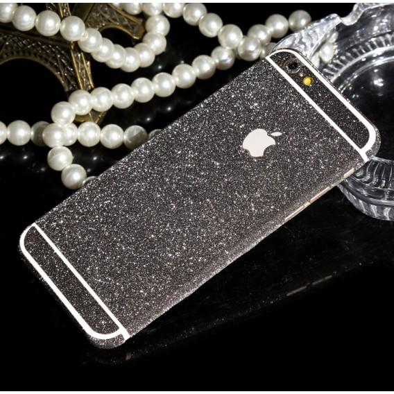 iphone 6 6S Schwarz Bling Aufkleber Schutz-Folie Sticker
