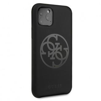Guess - 4G Silicon Collection Print Logo Case - Apple iPhone 11 Pro - Schwarz - Hard Cover - Schutzhülle