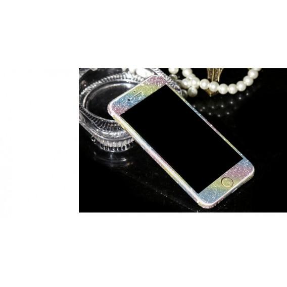 iphone 6 6S PlusRegenbogen Bling Aufkleber Folie Sticker Skin