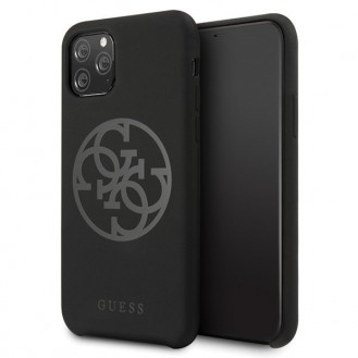 Guess - 4G Silicon Collection Print Logo Case - Apple iPhone 11 Pro - Schwarz - Hard Cover - Schutzhülle