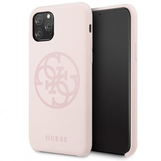 Guess - 4G Silicon Collection Print Logo Case - Apple iPhone 11 Pro - Hellpink - Hard Cover - Schutzhülle