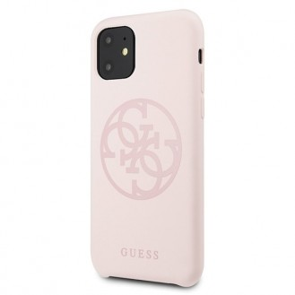 Guess - 4G Silicon Collection Print Logo Case - Apple iPhone 11 - Hellpink - Hard Cover - Schutzhülle