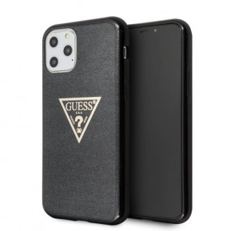 iPhone 11 Pro HandyHülle Guess Solid Glitter Cover Schwarz