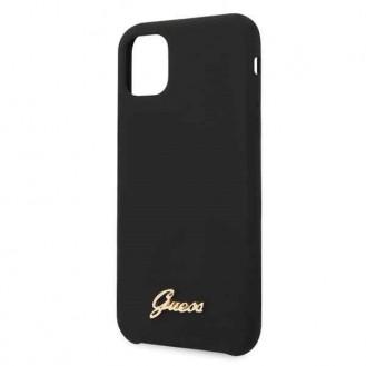 Guess Hard Case Silikon Vintage schwarz für Iphone 11 Pro