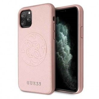Guess Hard Case  Saffiano 4G Circle Logo für Iphone 11 Pro Pink