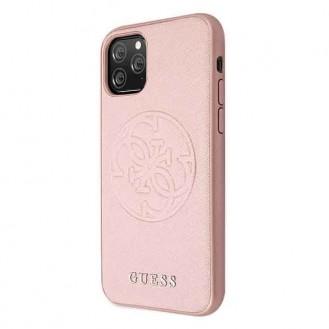 Guess Hard Case Saffiano 4G Circle Logo für Iphone 11 Pro Pink