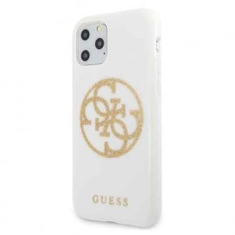 Guess Silikon Case   4G Circle Logo für Iphone 11 Pro Weiss