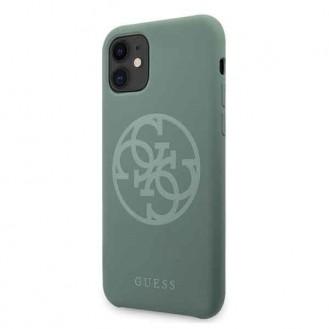 Guess  iPhone 11 Khaki hard case Silikon 4G Tone On Tone