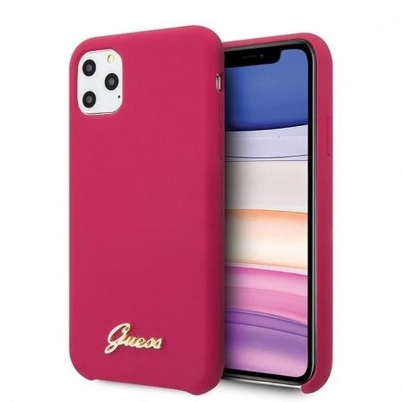 Guess Hard Case Silikon Vintage Pink für Iphone 11 Pro Max