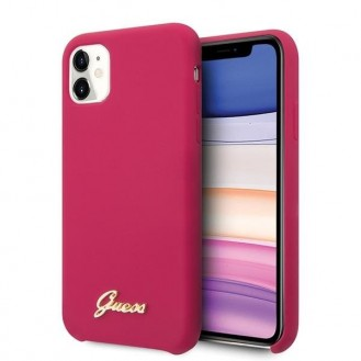 Guess Hard Case Silikon Vintage Pink für Iphone 11