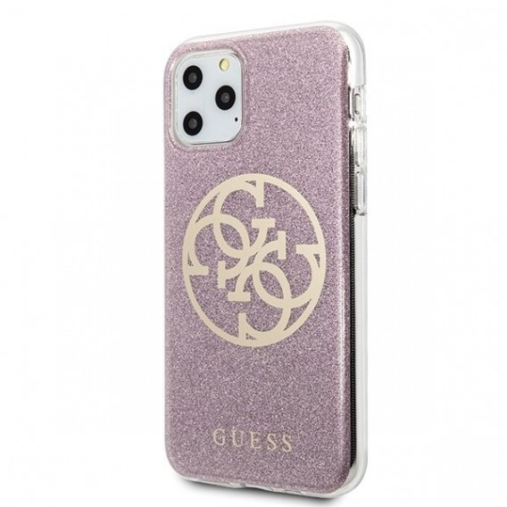Guess Glitter Case Gradient Cover Hülle Rose Gold für iPhone 11 Pro Max