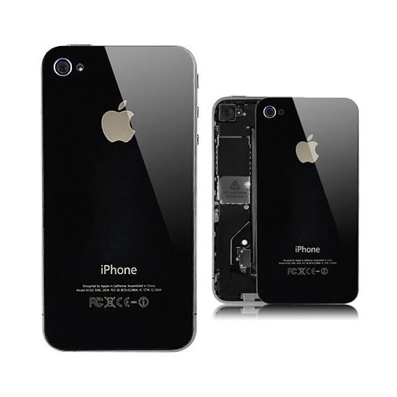 Schwarz Echt Glas Backcover Akkudeckel iPhone 4 G