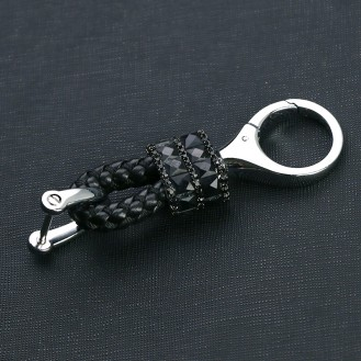 Lady SchlBling Mini Lederband - Schlüsselanhänger mit speziellem Design Schwarzüsselanhänger mit speziellem Design Dunkel Rosa